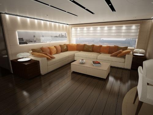 dica de decoração de interior de yacht - decoração de sala de estar