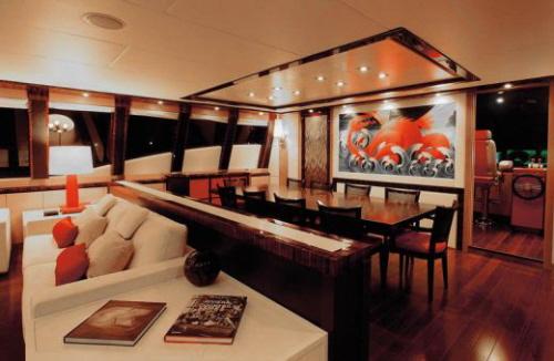 dica de decoração de interior de yacht - decoração de sala de jantar