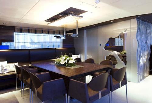dica de decoração de interior de yacht - dica decoração de sala de jantar