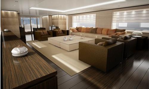 dica de decoração de interior de yacht - sala de estar