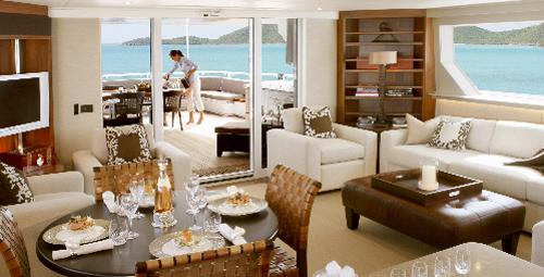 dica de decoração de interior de yacht